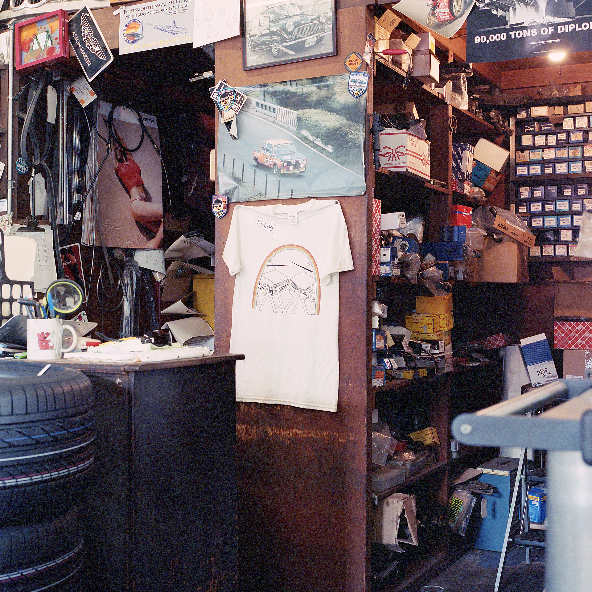 Color photo looking behind the counter at Ava Restoration Services