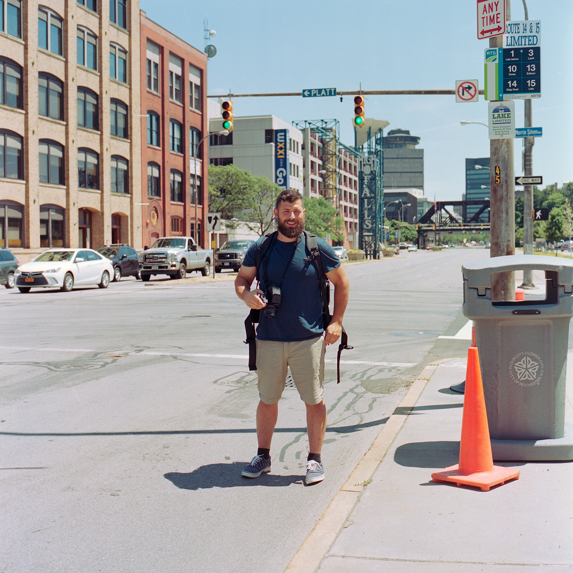Cameron Marin in Rochester New York near the Kodak Headquarters