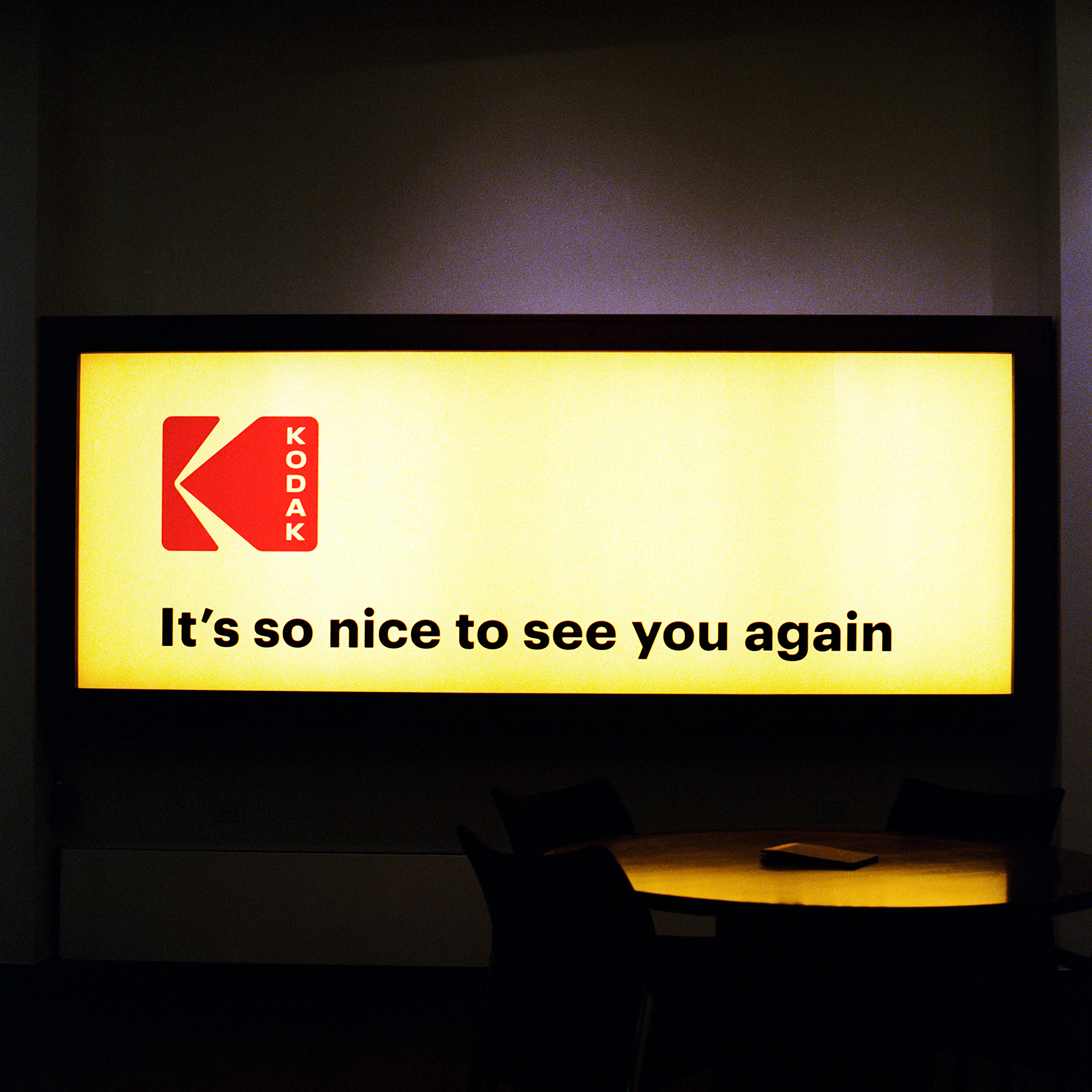 Kodak sign in the headquarters