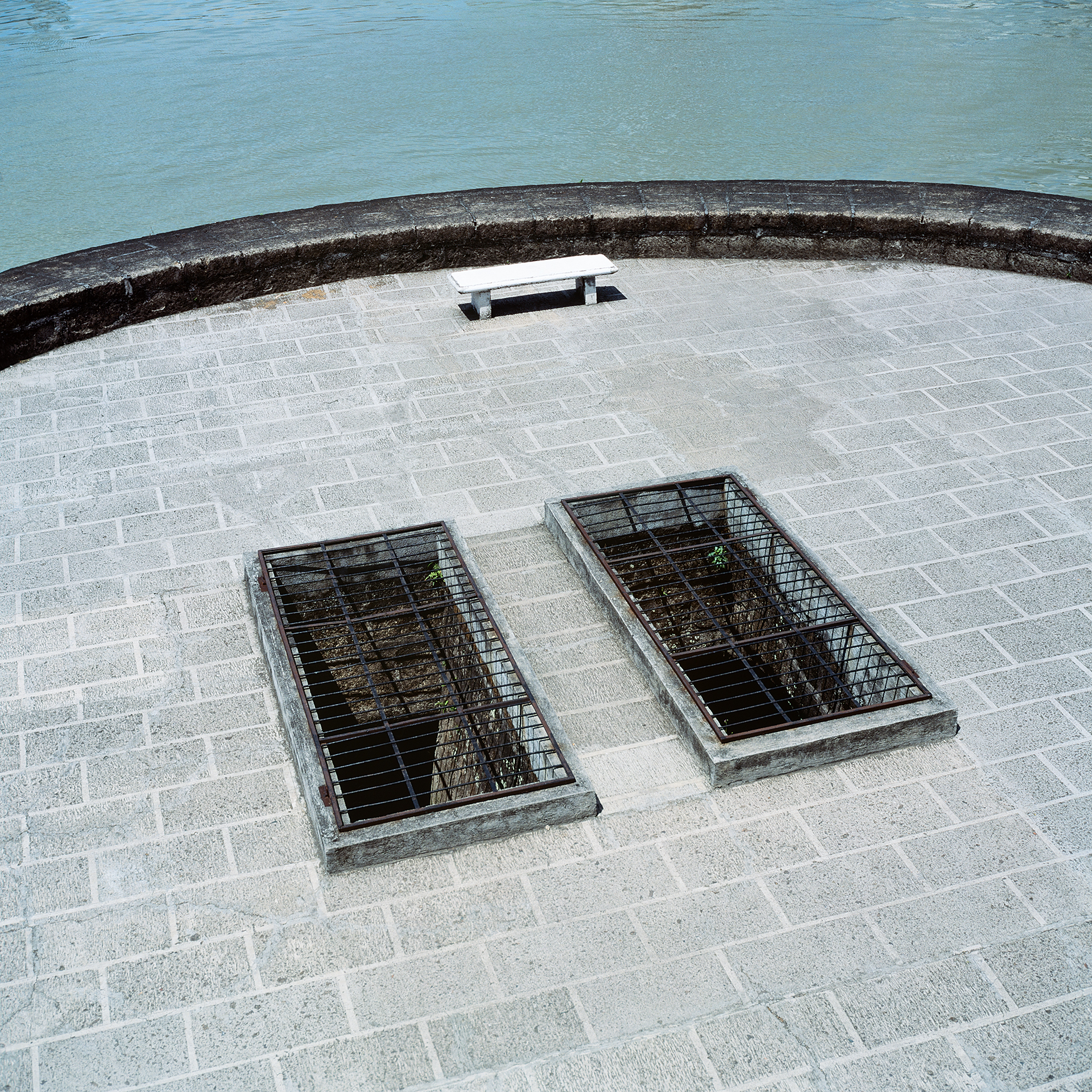 Grates over the jail cells at Fort Santiago