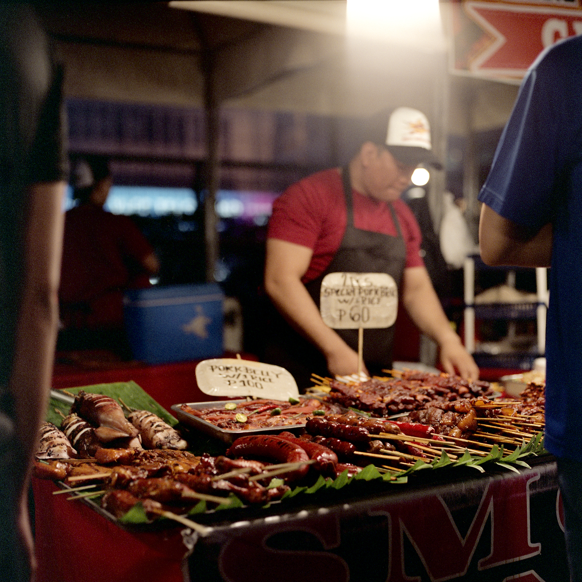 All different kinds of meat at a night market