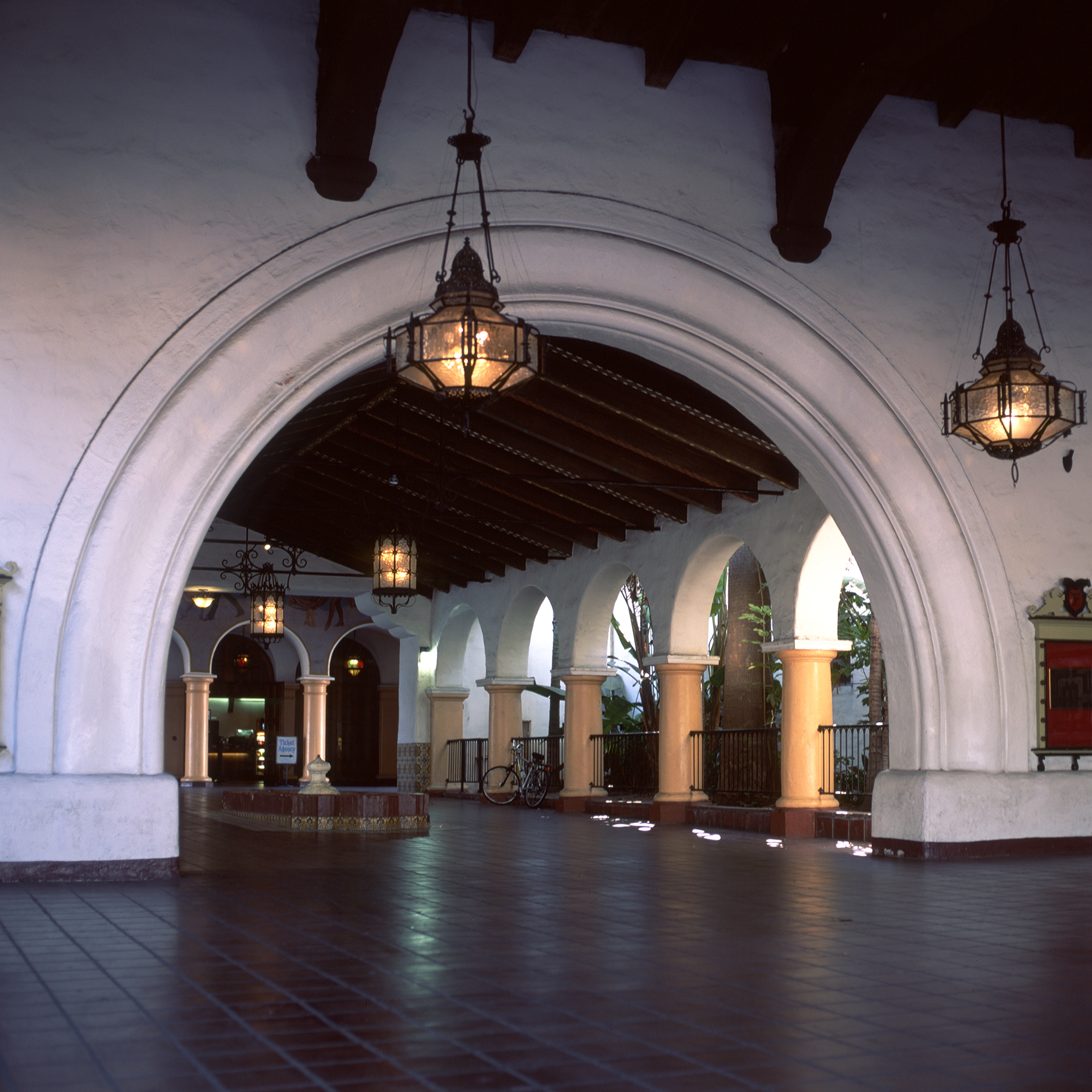 Spanish style entryway